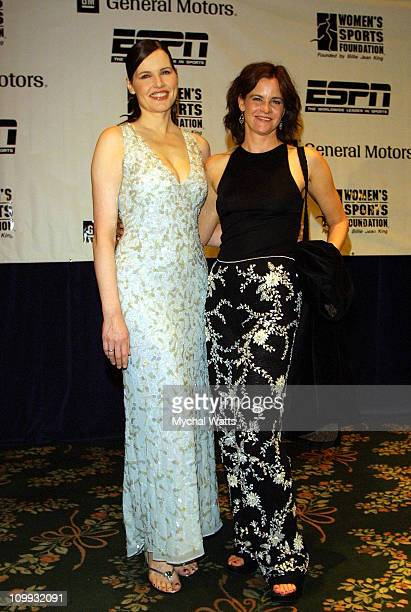 Geena Davis and Ally Sheedy during Women's Sports Foundation's Annual Salute to Women in Sports Awards Dinner at Waldorf Astoria in New York New York...