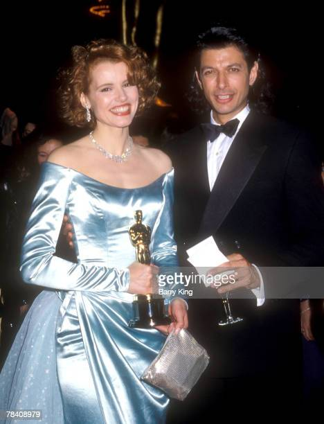 Geena Davis and Jeff Goldblum