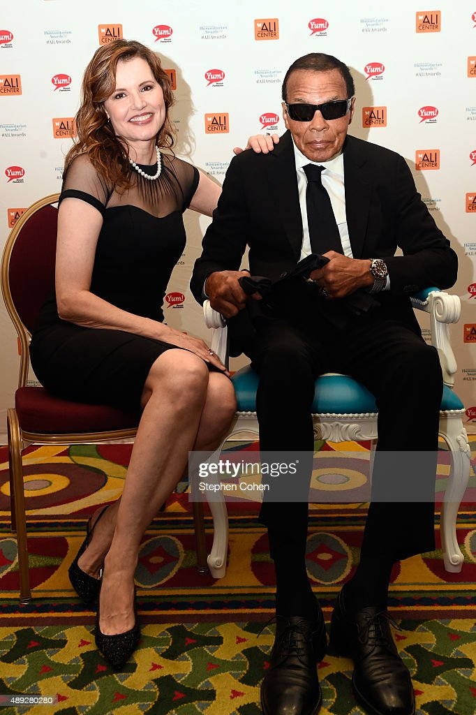 Geena Davis and Muhammad Ali attends the Muhammad Ali Humanitarian ...
