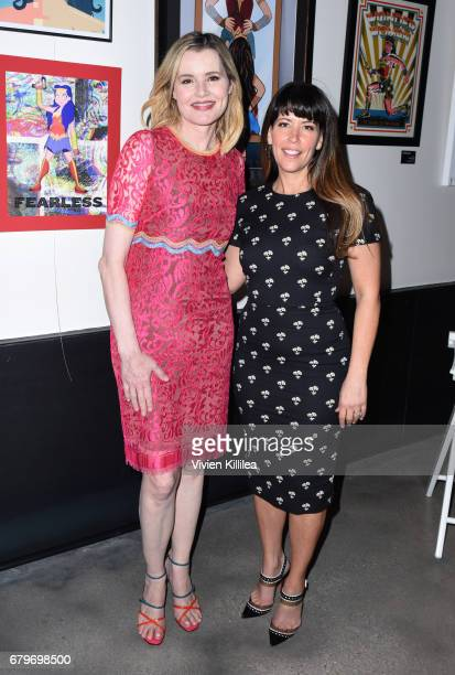 Geena Davis and Patty Jenkins attend the 3rd Annual Bentonville Film Festival on May 6 2017 in Bentonville Arkansas