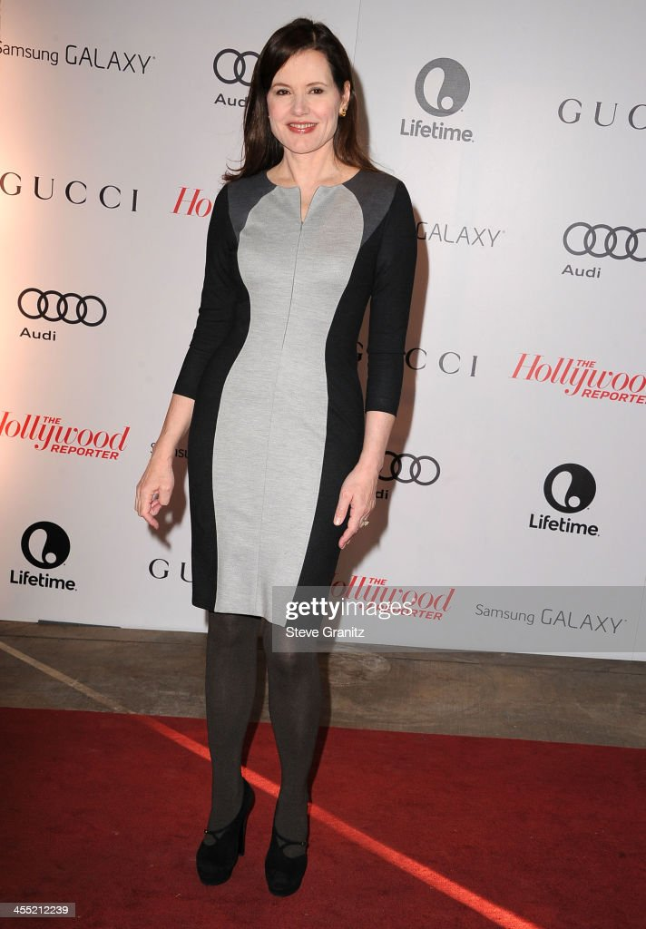 Geena Davis arrives at the The Hollywood Reporter's Women In Entertainment Breakfast Honoring Oprah Winfrey at Beverly Hills Hotel on December 11, 2013 in Beverly Hills, California.