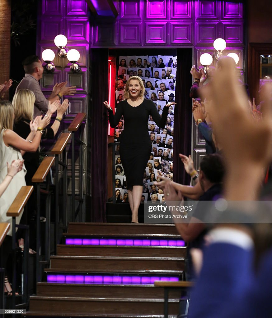 Geena Davis arrives to 'The Late Late Show with James Corden' Monday June 6 on The CBS Television Network