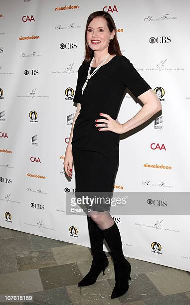 Geena Davis attends Geena Davis Institute on Gender in Media Presents 2nd Symposium on Gender in Media at Skirball Cultural Center on December 15...