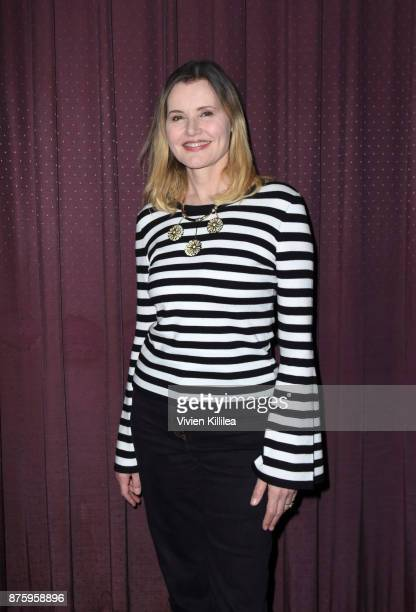Geena Davis attends the book launch and film premiere of 'Soufra' at Laemmle's Music Hall 3 on November 17 2017 in Beverly Hills California
