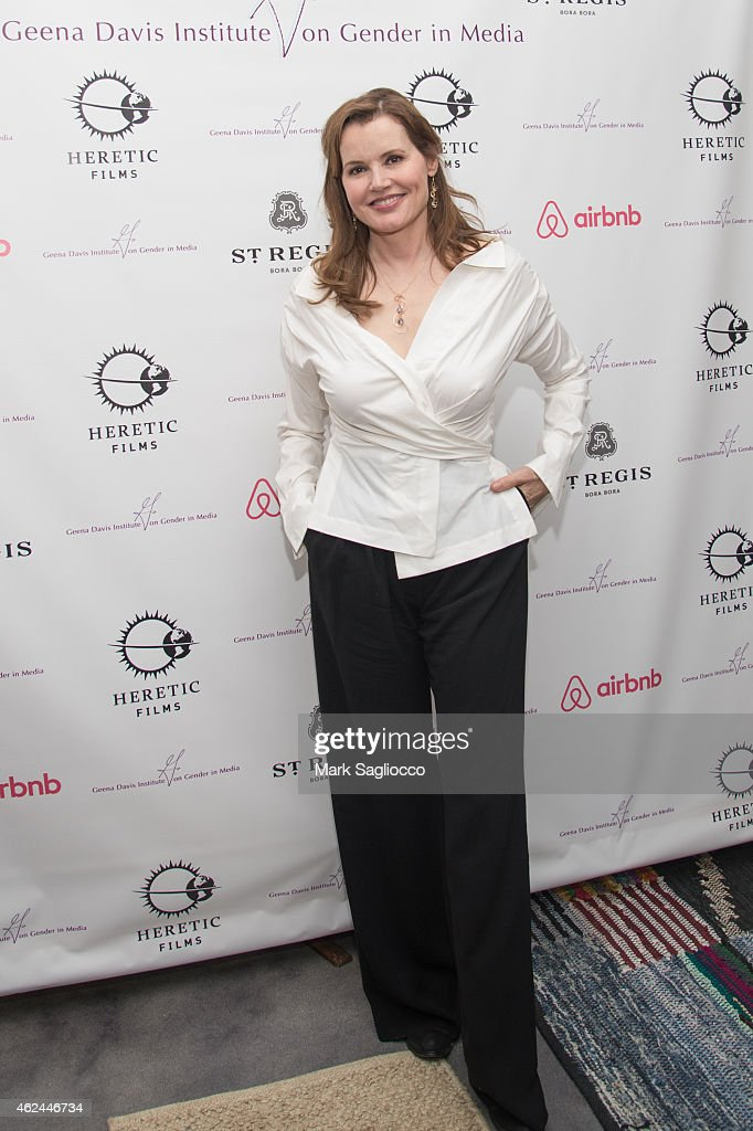 Geena Davis attends the Geena Davis Institute's Celebrity Poker ...