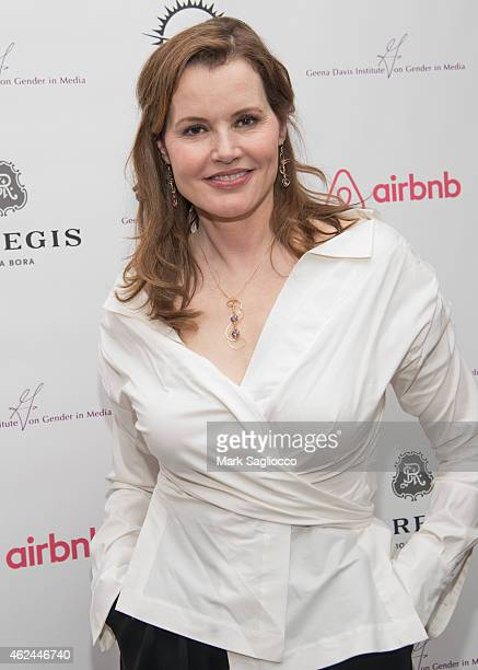 Geena Davis attends the Geena Davis Institute's Celebrity Poker Tournament at the AirBnB Haus on January 28 2015 in Park City Utah