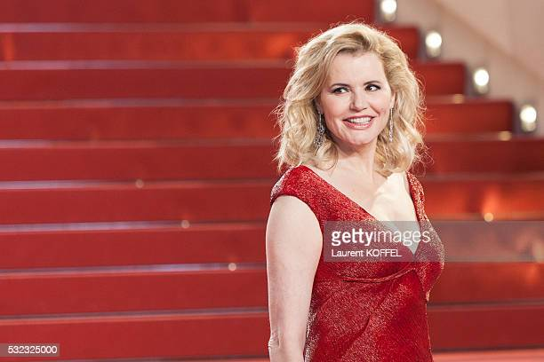 Geena Davis attends 'The Nice Guys' premiere during the 69th annual Cannes Film Festival at the Palais des Festivals on May 15 2016 in Cannes France