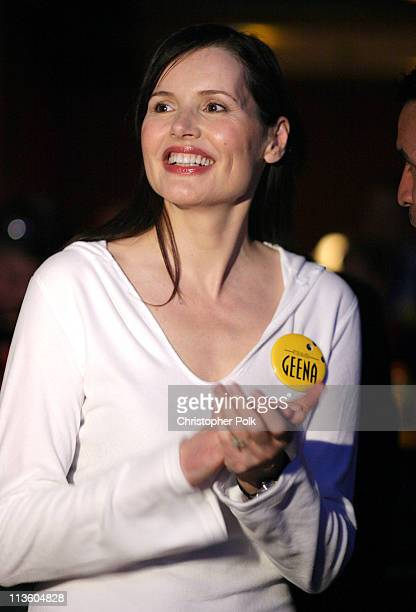 Geena Davis during 2003 ESPY Awards PreParty at Lucky Strikes in Hollywood California United States