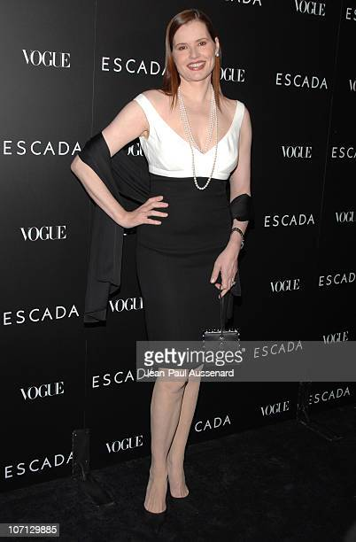 Geena Davis during Escada Grand Opening Of The Beverly Hills Flagship Boutique Arrivals at Escada Beverly Hills in Beverly Hills California United...