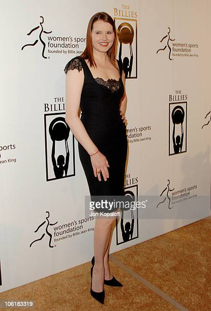 Geena Davis during Women's Sports Foundation Presents 'The Billies' Arrivals' at Beverly Hilton Hotel in Beverly Hills California United States