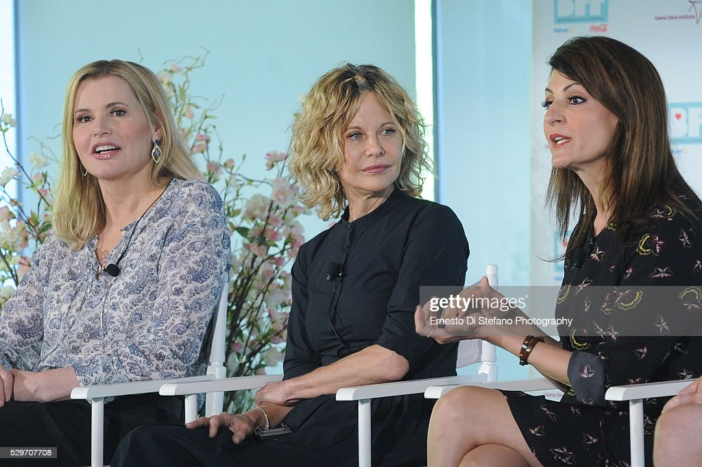 Geena Davis , Meg Ryan and Nia Vardalos attend 'Geena and Friends ...