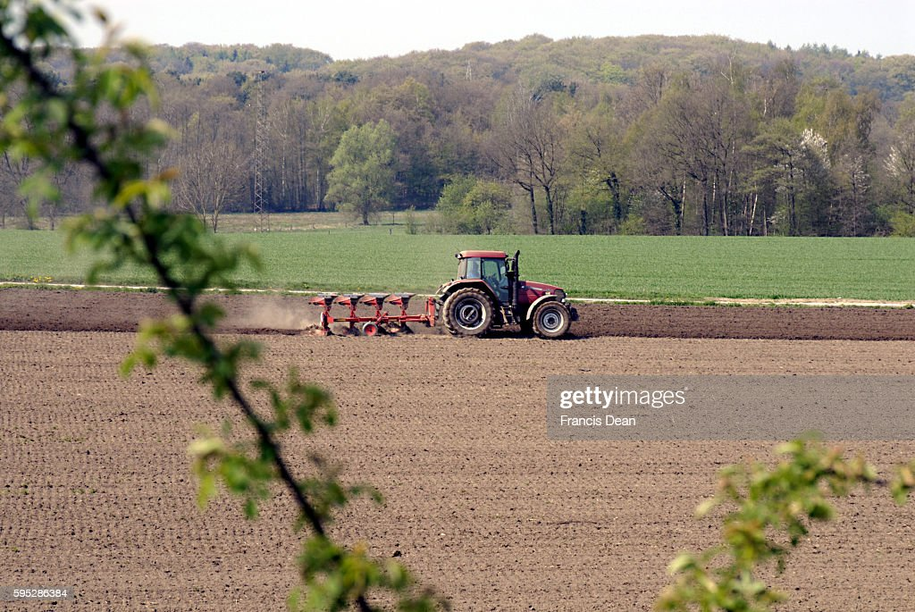 GEERMANY_German former plowing fields with tractor german country side 17 April 2011