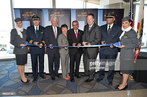 Geert Boven SVP Americas for Etihad Airways Gina Marie Lindsey Executive Director of Los Angeles World Airports Honorable Consul General of The...