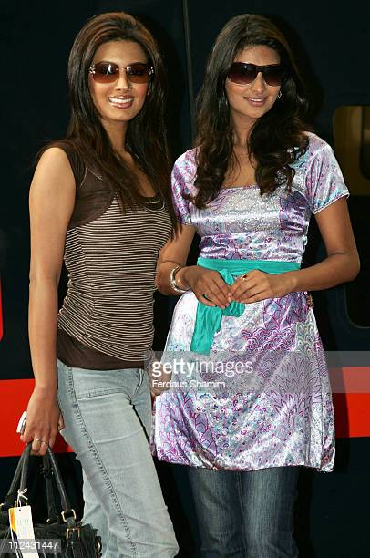 Geeta Basra and Sayali Bhagat during Stars of 'The Train' Unveil GNER Train Photocall at King's Cross Station in London United Kingdom