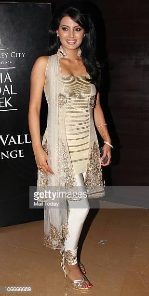 Geeta Basra during the Bridal fashion week in Mumbai on November 2 2010