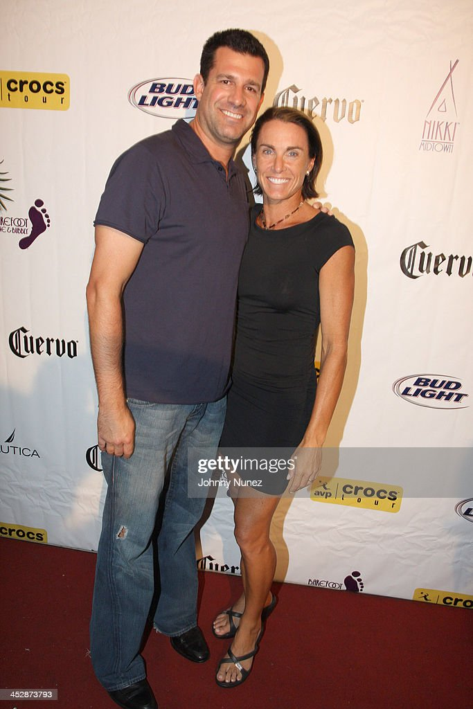 geeter and holly mcpeak attend the 25th anniversary celebration of avp pro beach volleyball at nikki