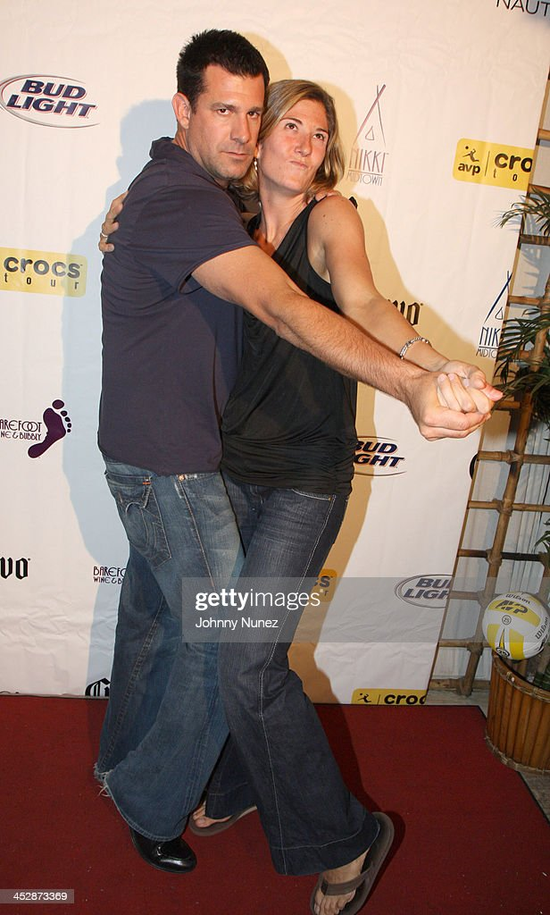 geeter and nicole branagh attend the 25th anniversary celebration of avp pro beach volleyball at nikki