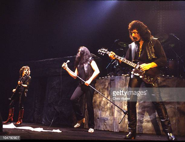Geezer Butler Ian Gillan and Tony Iommi of Black Sabbath in 1984