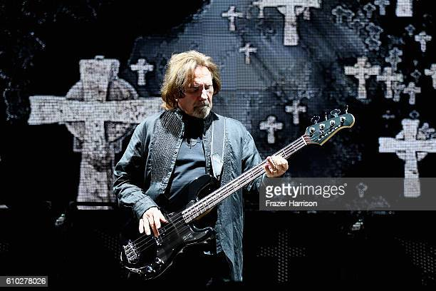 Geezer Butler ofBlack Sabbath performs at Ozzfest 2016 at San Manuel Amphitheater on September 24 2016 in Los Angeles California