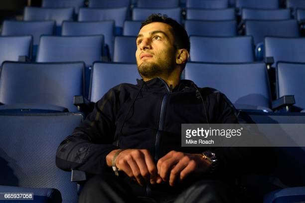 Gegard Mousasi of the Netherlands waits backstage during the UFC 210 weighin at KeyBank Center on April 7 2017 in Buffalo New York