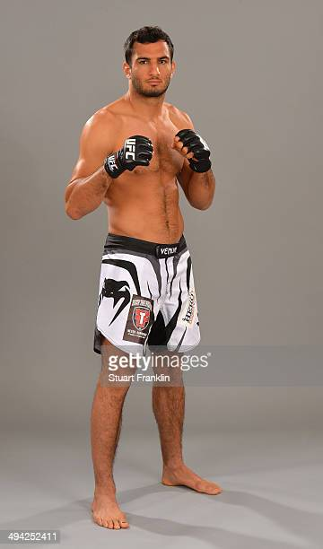 Gegard Mousasi poses for a picture during the UFC photo shoot at the Hilton hotel on May 28 2014 in Berlin Germany