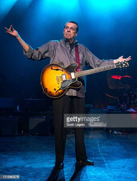 J Geils of the J Geils Band performs at the DTE Energy Center on August 19 2011 in Clarkston Michigan