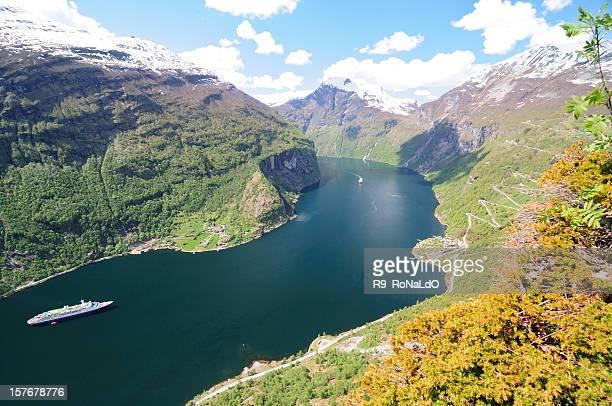 Geiranger Fjord at hellesylt Norway