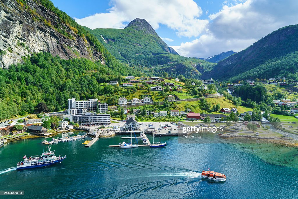Geiranger Norway Stock Photo Getty Images - Norway map geirangerfjord