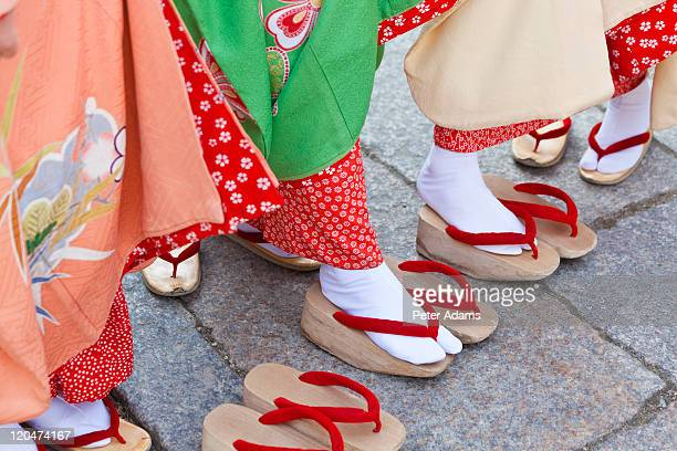 Geisha feet and sandals, Kyoto, Japan