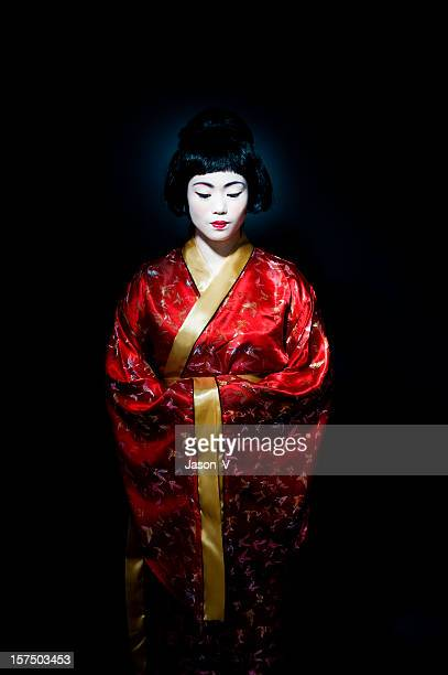 Geisha looking down