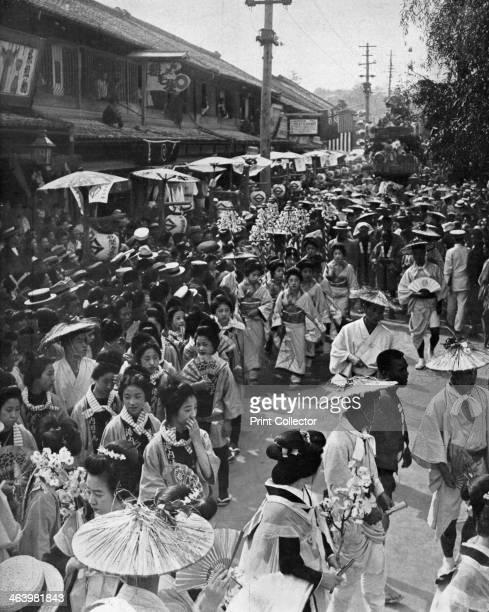 Geisha procession Yokohama Jubilee Japan 1909 A print from L'Illustration 31 July 1909