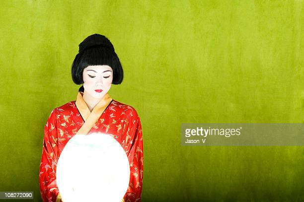 Geisha with a lantern