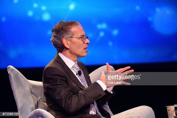 Geisinger CEO and President David T Feinberg MD MBA speaks on stage during the Geisinger National Symposium 'From Crisis to Cure Revitalizing...