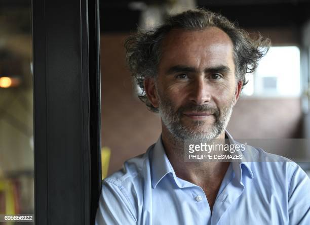 Gel groupe founder and CEO Guilhem de Lajarte poses on June 12 2017 at the headquarters in SaintAndrédeCorcy near Lyon southeastern France Gel Groupe...
