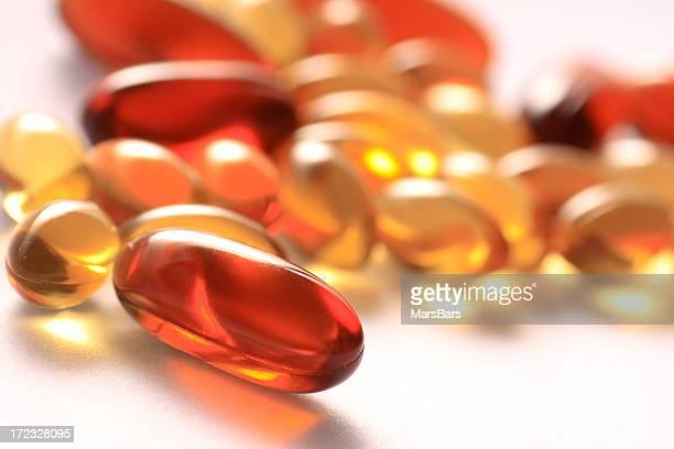 gel vitamin supplement capsules