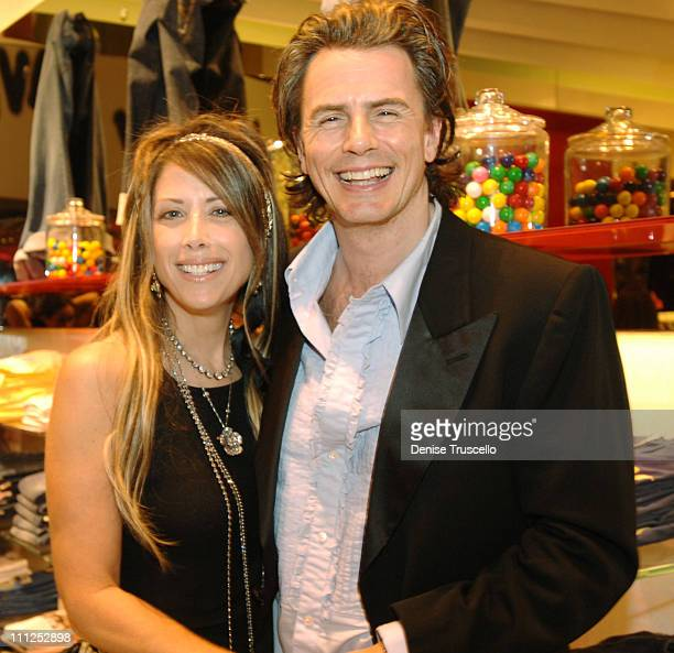 Gela and John Taylor during Juicy Couture Footwear Launch at Juicy Couture in The Forum Shops at Caesars Palace in Las Vegas Nevada United States
