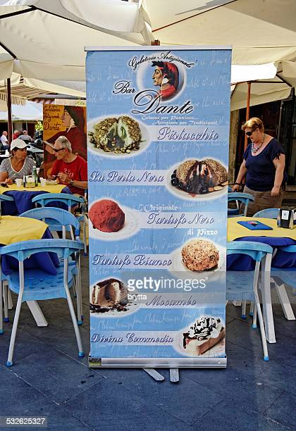 Gelateria selling the famous Tartufo ice cream in Pizzo, Italy