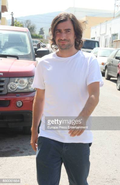 Gelete attends the funeral chapel for ex motorcyclist Angel Nieto at Tanatorio de Ibiza on August 4 2017 in Ibiza Spain