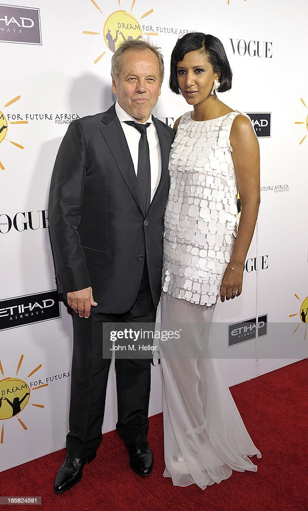 Gelila Puck and Chef <a gi-track='captionPersonalityLinkClicked' href=/galleries/search?phrase=Wolfgang+Puck&family=editorial&specificpeople=157523 ng-click='$event.stopPropagation()'>Wolfgang Puck</a> attend the Dream For Future Africa Foundation's Inaugural Gala Honoring Franca Sozzani Of VOGUE Italia at Spago on October 24, 2013 in Beverly Hills, California.