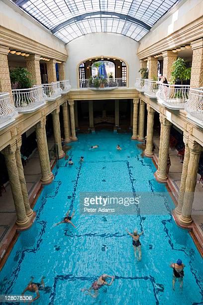 Gellert Baths, Indoor pool and thermal baths, Gellert Hill, Budapest, Hungary