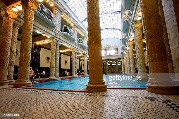 Gellert Baths indoor swimming pool in Budapest Hungary