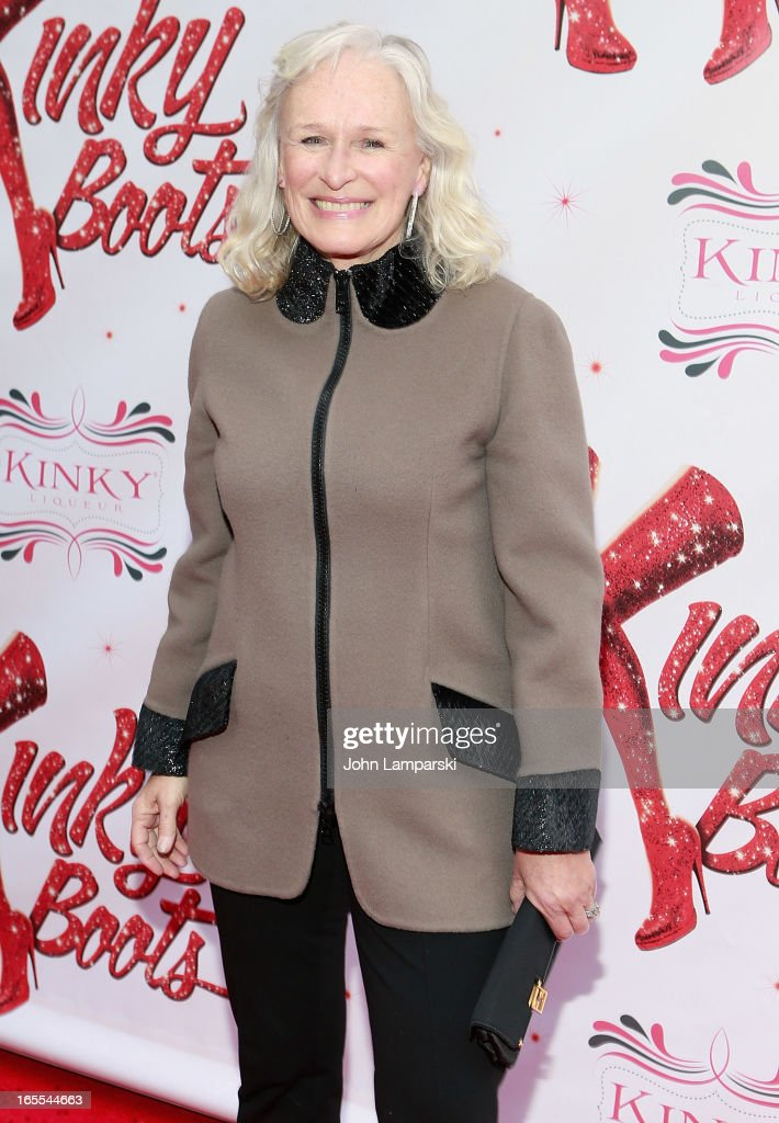 Gelnn Close attends the 'Kinky Boots' Broadway Opening Night at the Al Hirschfeld Theatre on April 4, 2013 in New York City.