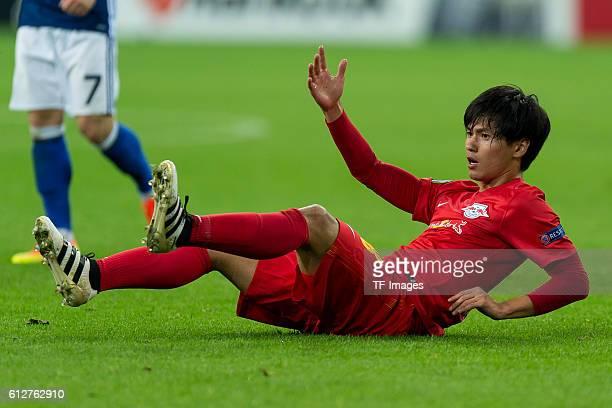 Gelsenkirchen Germany UEFA Europa League 2016/17 Season Gruppenphase 2 Spieltag Matchday 2 FC Schalke 04 FC Salzburg Takumi Minamino