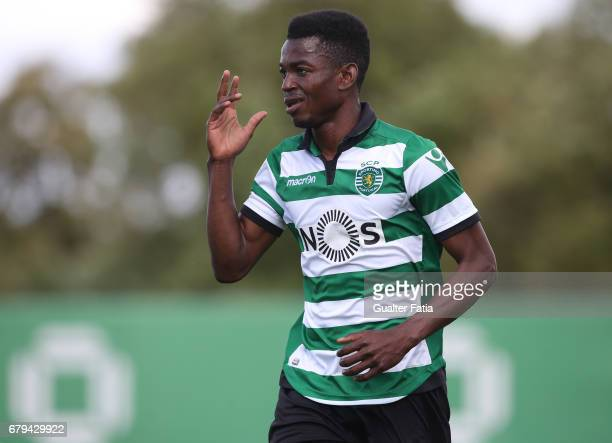 Gelson Dala of Sporting CP B celebrates after scoring a goal during the Segunda Liga match between Sporting CP B and SL Benfica B at CGD Stadium...