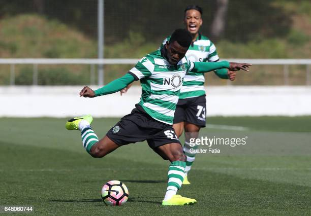 Gelson Dala of Sporting CP B in action during the Segunda Liga match between CD Cova da Piedade and Sporting CP B at Estadio Municipal Jose Martins...