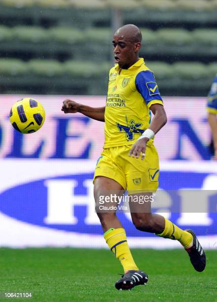Gelson Fernandes of AC Chievo Verona in action during the Serie A match between Parma and Chievo at Stadio Ennio Tardini on October 31 2010 in Parma...