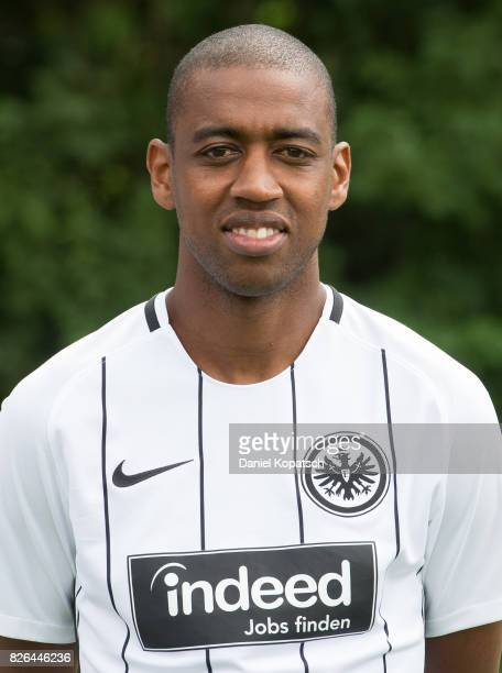Gelson Fernandes of Eintracht Frankfurt poses during the team presentation at on August 4 2017 in Frankfurt am Main Germany