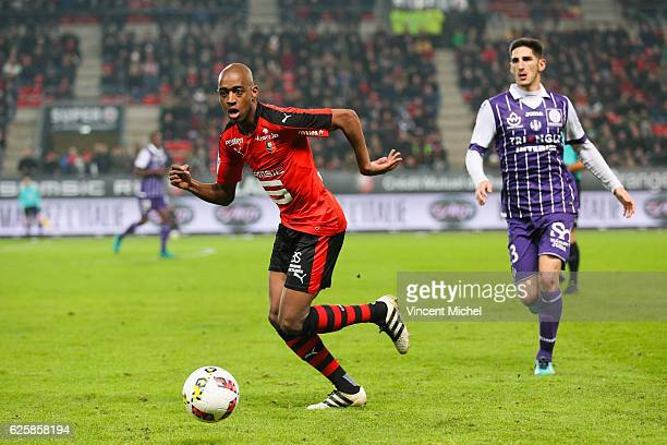 Gelson Fernandes of Rennes during the French Ligue 1 match between Rennes and Toulouse at Roazhon Park on November 25 2016 in Rennes France
