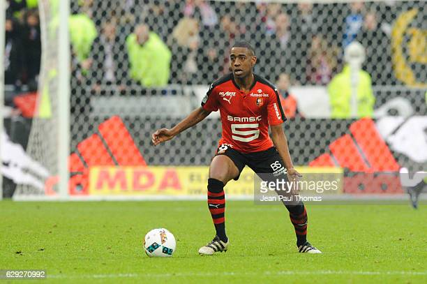 Gelson FERNANDES of Rennes during the French Ligue 1 match between Lyon and Rennes at Stade des Lumieres on December 11 2016 in Decimes France