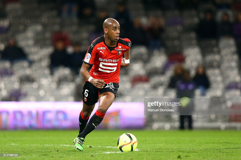 Gelson Fernandes of Rennes during the French Ligue 1 Toulouse FC v Stade Rennais at Stadium Municipal on February 27 2016 in Toulouse France
